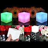 3 Mood Cube Lights - Colour Changing LED Sensory Lamps, Light Up Battery Cube Mood Lighting for Bedroom by PK Green
