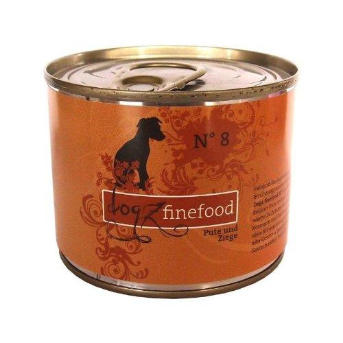 Dogz finefood Dose No. 8 Pute & Ziege 200 g (Dosen Hundefutter 8)