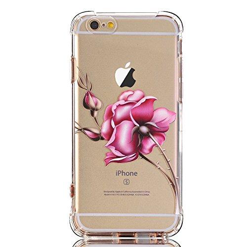 Blitz® POWER RANGER motifs housse de protection transparent TPE iPhone Spiderman M12 iPhone 6 6s épines M16