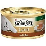 Gourmet Gold Katzenfutter Terrine mit Huhn, 12er Pack (12 x 85 g) Dosen