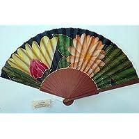 """Abanico de seda natural pintado y montado a mano """"Verano"""""""
