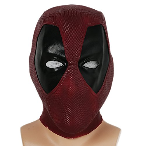 Halloween Maske Latex Head Face Helm Film DP Cosplay Kostüm Kleidung Replik für Herren Party Verrücktes Kleid Zubehör (Deadpool Halloween-kostüme)