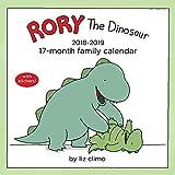Rory the Dinosaur Family Organiser 2018-2019 17-Month Square Wall Calendar