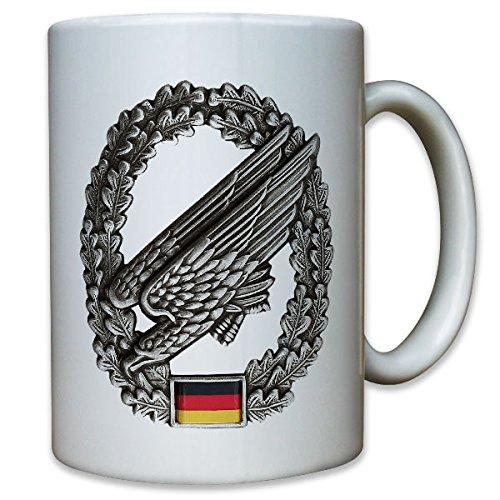 Bundeswehr Bund Bw Fallschirmjäger Adler grüne Teufel Barettabzeichen Abzeichen - Tasse Kaffee Becher (Fallschirmjäger Uniform)