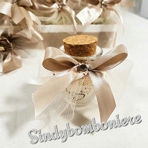 2 vasetti portaconfetti per bomboniere matrimonio a forma di anfora con confetti sb
