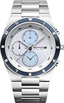 BERING Classic Herren Chronograph silber/hellblau/blau 34440-707