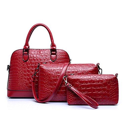 Molly Aux Femmes Handbag Sac Bandoulière Sac À Main 3Pcs Set Rouge