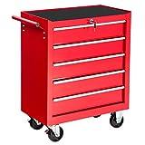 TecTake Carrello portautensili porta attrezzi officina con ruote | ampi cassetti | -modelli differenti- (Tipo 1 | no. 402142)