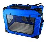 Hundetransport Tasche Größe XXL Hundebox Blau Hundetransportbox
