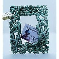 Cornice Portafoto da Tavolo Linea Corallo Verde Ramina Ceramica Handmade Le Ceramiche del Castello Nina Palomba 100% Made in Italy
