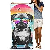 Product Home Cool Dog im Sommer Herren Strandtuch Handtuch, Pool, Sport Handtuch, Dick, Weich, Quick Dry, Leicht, saugfähig