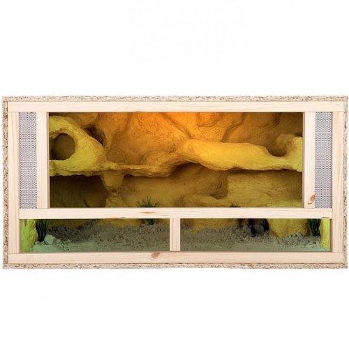 Repiterra Terrarium aus Holz 100x50x50 cm mit Frontbelüftung aus OSB Platten mit Floatglas