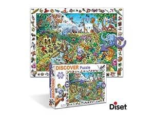 Diset - 69592 - Puzzle - Discover Safari