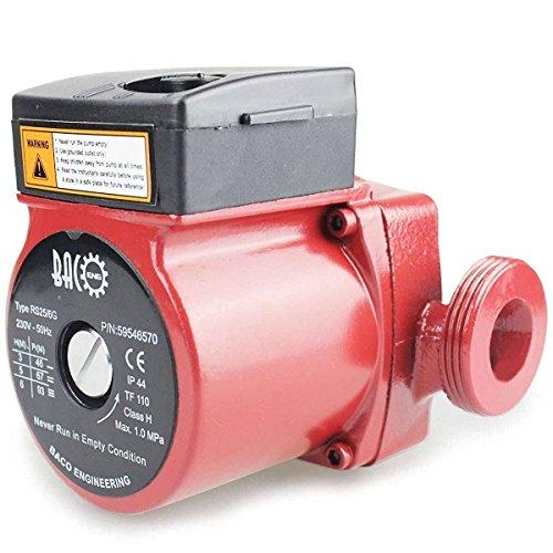 BACOENG Umwälzpumpe Heizungspumpe RS 25/6-130 Zirkulationspumpe für Zentralheizung 220V/ 50 Hz