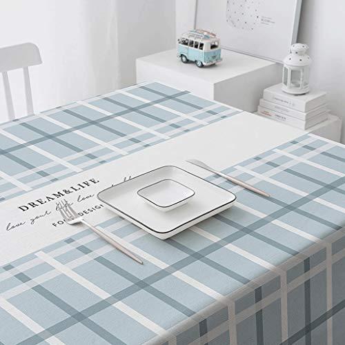Duanguoyan Tischdecke- Kleine frische Baumwolle und leinen tischdecke Haushalt rechteckige tischdecke wasserdicht Anti-hot Tee tischdecke (Color : B, Size : 110X170cm) -