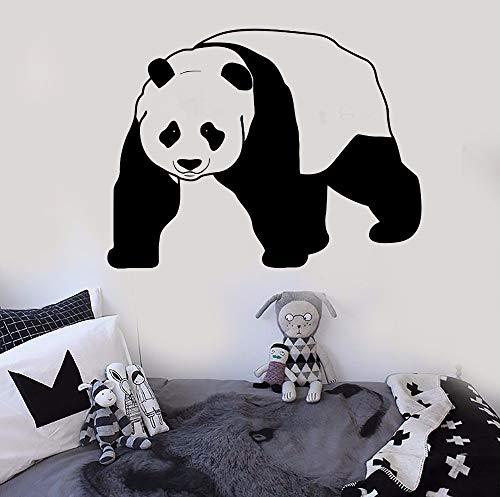 Crjzty Kindergarten Vinyl Wandtattoo Abnehmbare Panda Bär Tier Wandaufkleber Kindergarten Kinderzimmer DekorWandkunstPanda Bär Aufkleber114x88 cm