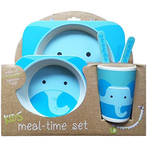nandog-pet-gear-bamboo-fibre-elephant-kids-plate-set-blue
