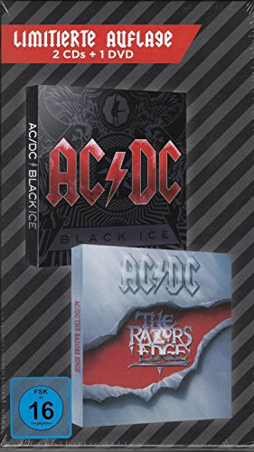 AC/DC Black Ice + The Razors Edge + DVD Rough & Tough - Limitierte Auflage