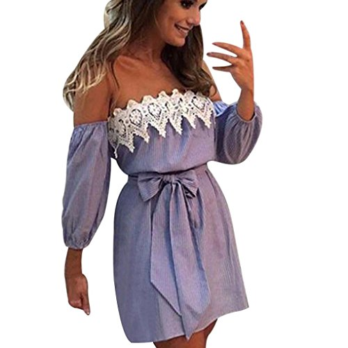 Damen Jumpsuit Frauen Pyjamas Overall Skaterkleid Casual Ärmelloses Abendkleid Kurze Minikleid Solid Lace Sling Weste Spielanzug Camisole Overalls Kleidung Swing Kleider (L, Sexy Blau) (Damen-pyjama Ärmelloses)