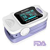 Pulse Oximeter Blood Oxygen Monitor, Hylogy Fingertip Oximeter with Carrying Bag and Lanyard, Automatic Shutdown and Fast Reading, CE, FDA Approved