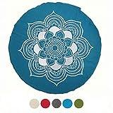 Meditationskissen Yogakissen Celine Madeleine mit Stickerei