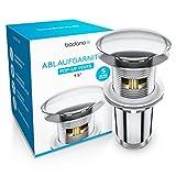 Badano Premium Universal Ablaufgarnitur mit Überlauf für Waschbecken & Waschtisch - Pop Up Ventil...