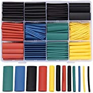 Heat Shrink Color 530 pcs heat insulation 8 sizes 5 colors in the box to Wrap Wire Cable Sleeve Kit