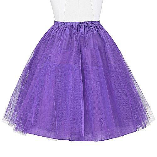 Belle Poque 50s Petticoat Retro Vintage Rock Damen Unterrock crinoline petticoat für Rockabilly Kleid BP056-8