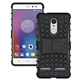 Lenovo K6 Power Defender Stylish Armour Protector Shockproof + TPU 360° Protection with Hybrid Kickstand Back Case Cover Easy To Carry By Shoppers Point