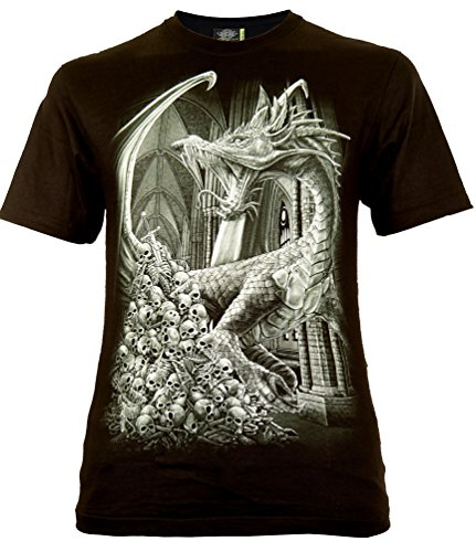 Death Dragon T-Shirt Gr. L Glow in The - Dark Metal Dragon