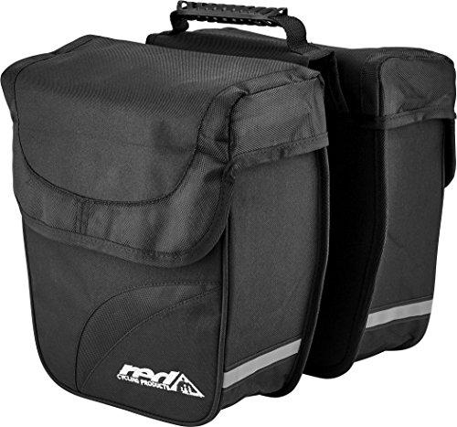 Red Cycling Products Double City Bag Gepäckträgertasche schwarz 2019 Fahrradtasche -