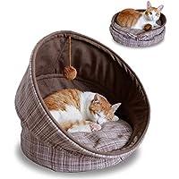 PLDDY Cama para mascotas, sacos de dormir plegables y lavables para gatos Nido redondo para