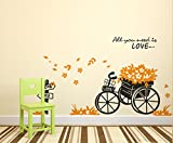 Decals Design 'Floral Bicycle Quote All ...