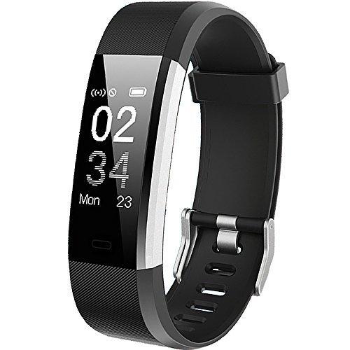 Pulsera Actividad, Showyoo Reloj Inteligente con Monitor de Ritmo Cardíaco, GPS para Corer Podómetro IP67 Impermeable Reloj de Actividad Smartwatch Monitor de Sueño Pulsera de Contador de Pasos Reloj de Fitness con Contador de Calorías para Android Smartp
