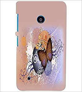 PrintDhaba Butterfly D-2073 Back Case Cover for NOKIA LUMIA 530 (Multi-Coloured)