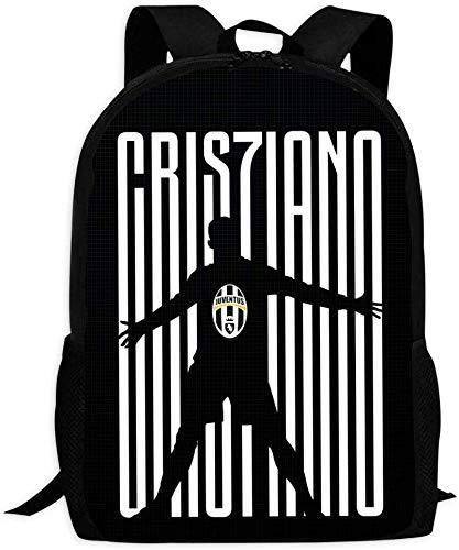 DFIDAS Rucksack Schultasche Cristiano Ronaldo Juventus Cute Backpack School Bag Book Bag for Boys Girls