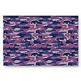 LIS HOME Tappetini per Porte Personalizzati Camouflage Militare Esercito Art Coperta Tappeti d'ingresso in Gomma Antiscivolo per Tappetino da Bagno