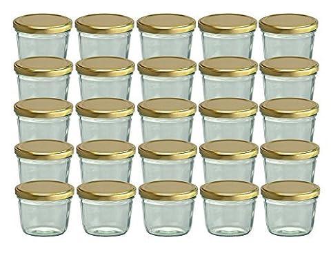 Cap+Cro To 82 Lot de 25 bocaux en verre pour