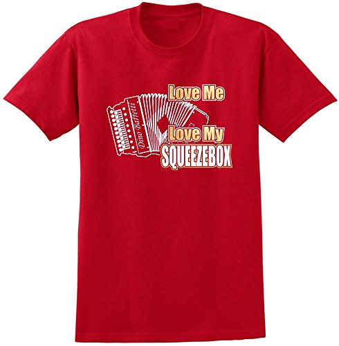 Melodeon Love My Squeezebox - Red Rot T Shirt Größe 87cm 36in Small MusicaliTee