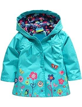 Giacche Impermeabile Bambino Cappotto di Pioggia Outwear Impermeabile con Cappuccio-LATH.PIN