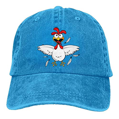 Funny Cute Chicken Denim Hat Adjustable Womens Snapback Baseball Caps