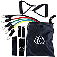 TeamSoda Resistance Band Kit - 11 Piece Set with 5 Bands and Carry Case - Train Anywhere