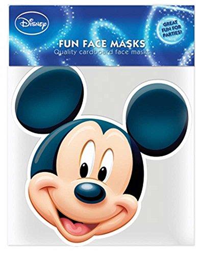 (Disney Mickey Mouse - Papp Maske, aus hochwertigem Glanzkarton mit Augenlöchern, Gummiband - Grösse ca. 30x20 cm)