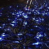 YSSY LED-Nettolicht, 2m x 2m 144 Licht für Innen- und Außenanwendungen, Geeignet für die Dekoration Bäume aufhellen Straßenbeleuchtung Blue