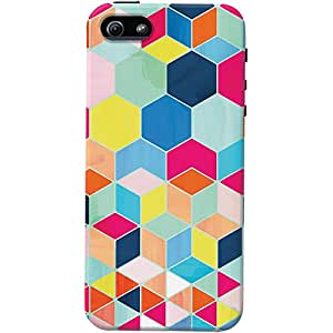 DailyObjects Bright Hexagon Pattern Case For iPhone 5/5S