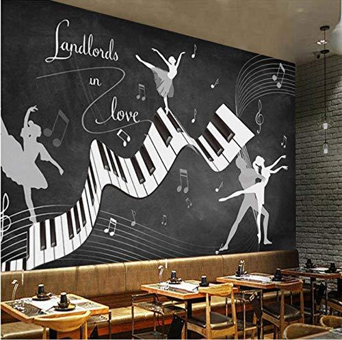 Yirenfeng Benutzerdefinierte Fototapete Retro Vintage Ballett Kostüm 3D Wandbild Wohnzimmer Sofa Tv Hintergrund Wand Wasserdicht Fresco 3D ()