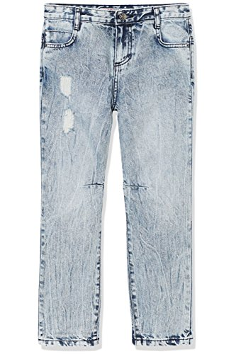 RED WAGON Jeans Jungen in Distressed-Optik, Blau (Blue), 128 (Herstellergröße: 8 Jahre) (Distressed Jean Denim Jacke)