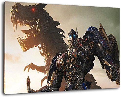 Transformers Format 120x80 cm Bild auf Leinwand, XXL riesige Bilder fertig gerahmt mit Keilrahmen, Kunstdruck auf Wandbild mit Rahmen (Megatron Poster)