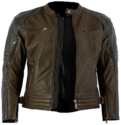 marronenero nabuk moto pelle giacca bovina cerato The in Craig con tq6788