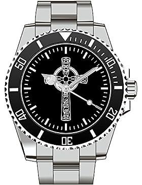 Keltisches Kreuz Celtic Cross Wikinger Uhr - Armbanduhr 1236